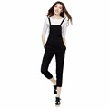 2016 Fashion women workwear V-Neck playsuits lady chiffon Elastic casual rompers jumpsuits LBAI0238