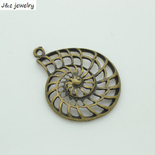 Buy Fashion Sale 35*28 mm 10 pcs Zinc Alloy Antique Bronze Plated shell Charms Pendants Metal Jewelry Findings Fit DIY 34141B for $1.35 in AliExpress store