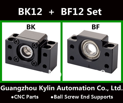 Sale! BK12+BF12 Ball screw end supports SFU1605 support CNC XYZ parts - Guangzhou Kylin Automation Co., Ltd. store
