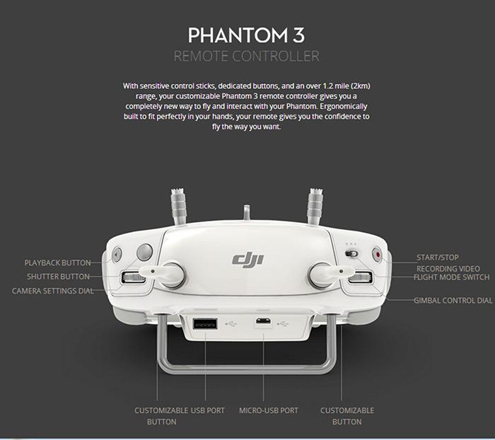 Original DJI Phantom 3 Professional Version Drones with 4K Camera HD Auto-takeoff Auto-return home RC FPV Quadcopter