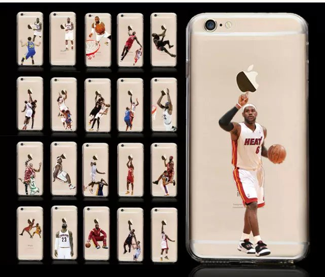 Basketball Player Clear Case For iphone6 Ultra Thin LeBron Raymone James King TPU Soft Back Cover For iphone 6 6s iphone6s fp704(China (Mainland))