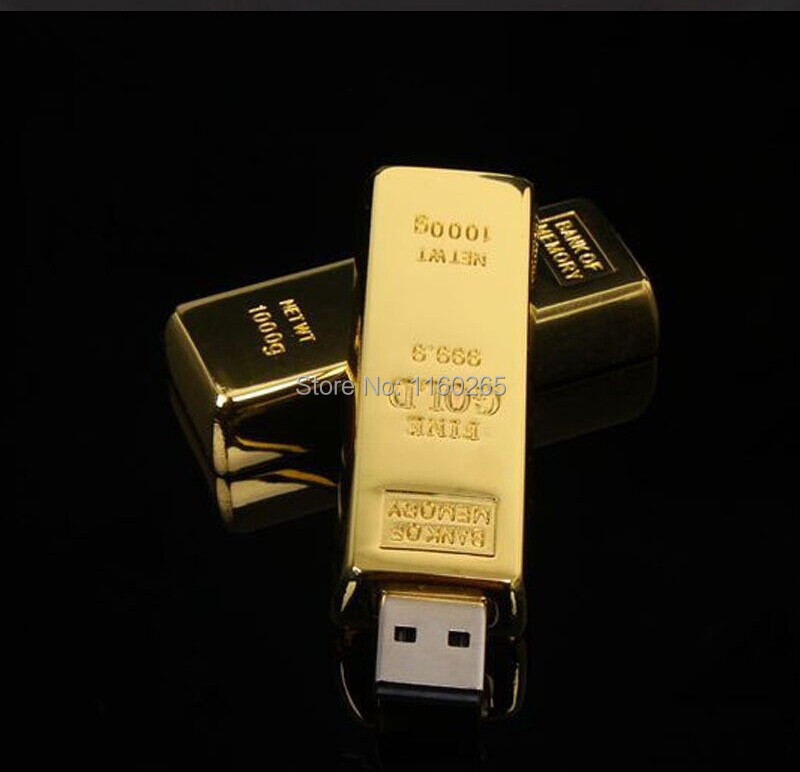 2015 high quality usb flash drive new hot sell 8gb 16gb 32gb 64gb Gold Bar usb flash drive USB 2.0 pen drive usb stick U disk(China (Mainland))