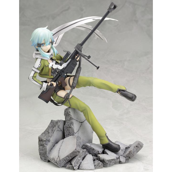 Sword Art online Japanese font b Anime b font Asada Shino Kirito Asuna Espada Action Figure