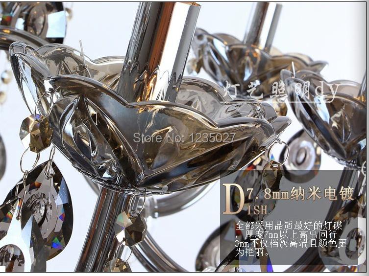 Купить E14 СВЕТОДИОДНЫЕ лампы Завод Оптовая современные Смоки смоки хрустальная люстра хрустальная люстра AC 100% Гарантия Бесплатная Доставка
