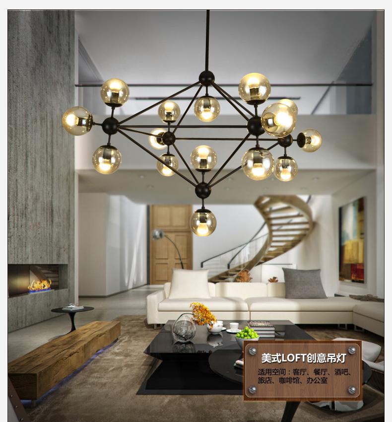 Popular glass globe chandelier buy cheap glass globe for Dining room globe lighting