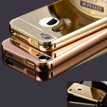Buy iPhone 4 4s Case Metal Bumper Cases Golden plating Aluminum Frame + Mirror Acrylic Back Cover black iPhone4 iPhone4s for $47.87 in AliExpress store
