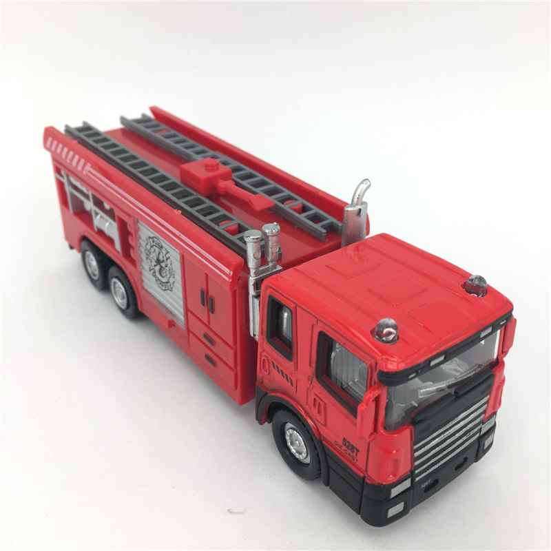 1:60 Die cast Metal + ABS Car Model Fire Truck Toys For Children Kids Brinquedos(China (Mainland))
