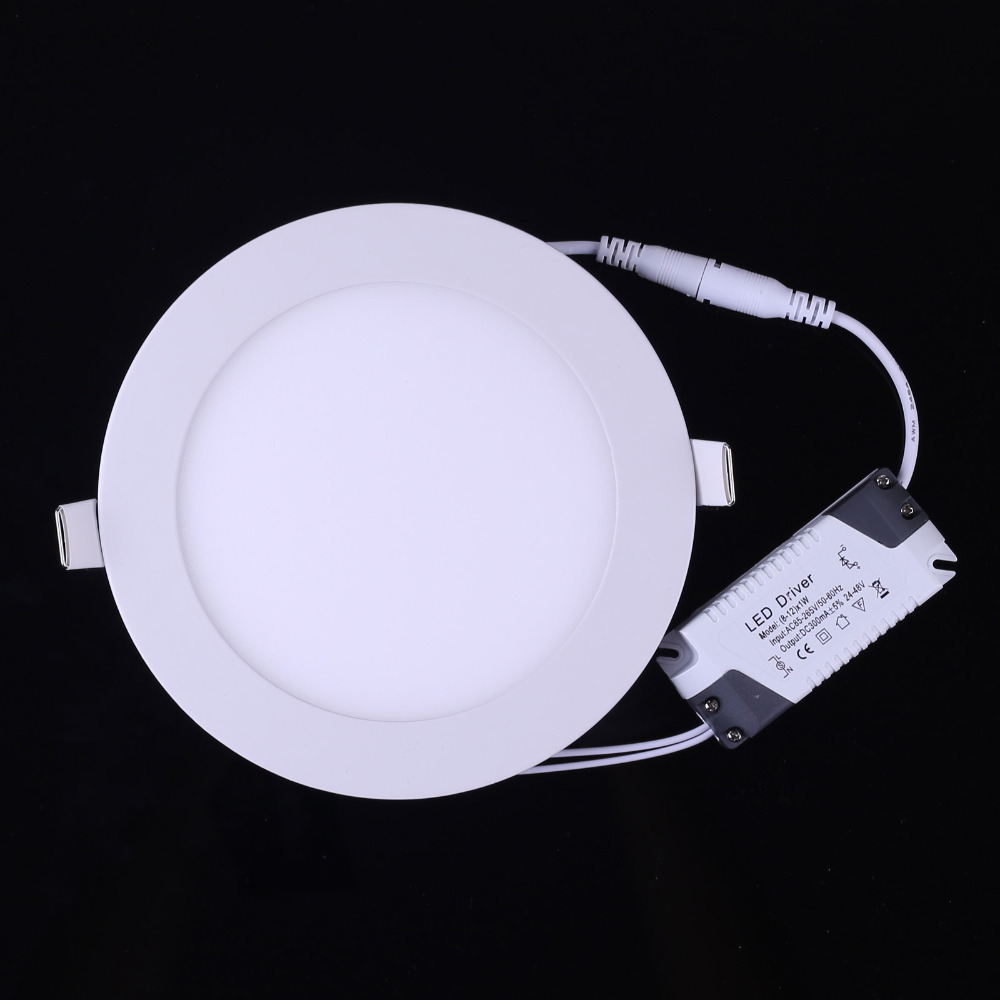9W LED Recessed panel Light Lamp Dimmable painel de lampadas led
