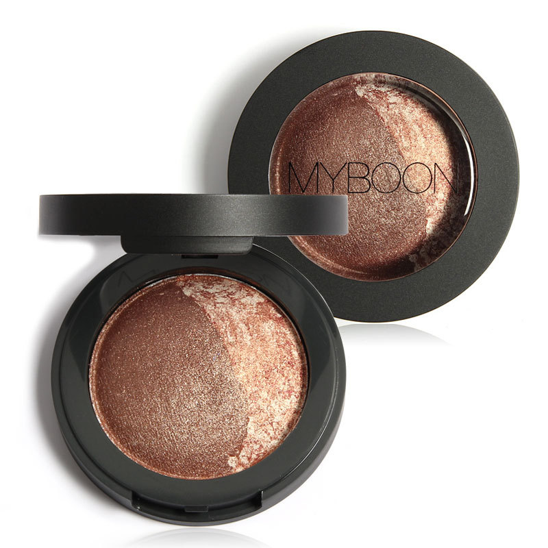 MYBOON Dou Eye Shadow Baked Eyeshadow Two Shade in a Palette Baked Eye Shadow Ultra-fine Mineral Texture(China (Mainland))