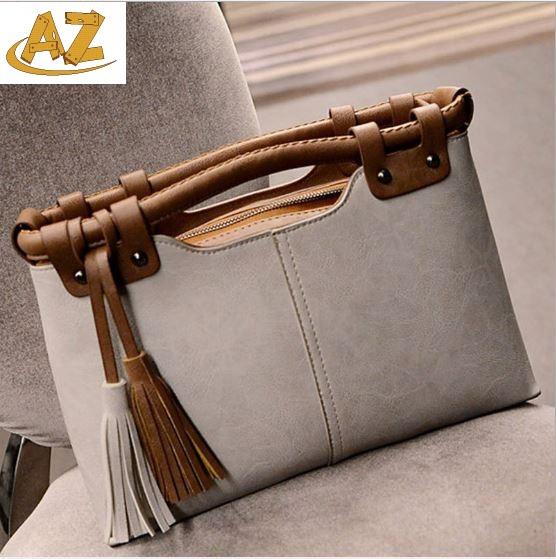 2015 new fashion handbag retro hit color tassel Satchel shoulder bag four colors  -  Shenzhen AZ trading Co., Ltd store