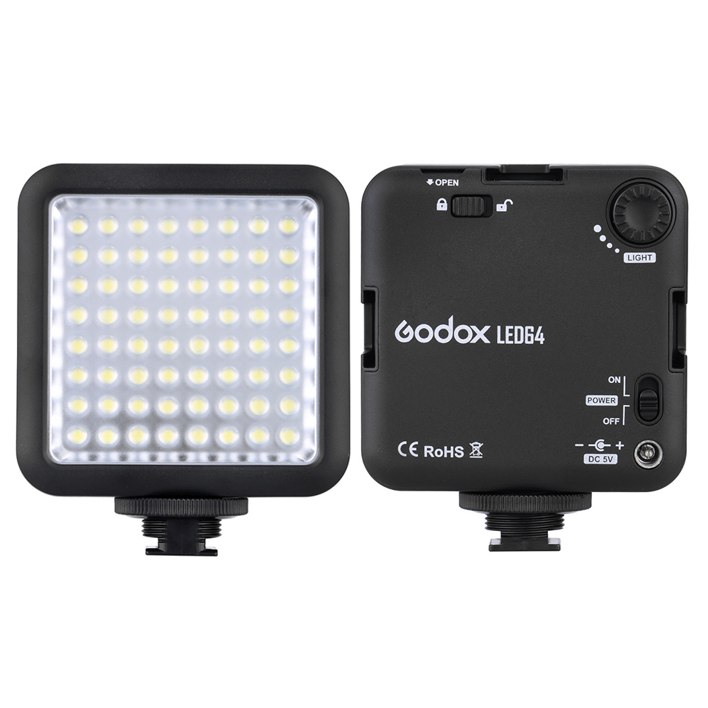 Godox LED64 LED Video Light Lamp for DSLR Camera Camcorder mini DVR as Fill Light for Wedding News Interview Macro photography(China (Mainland))