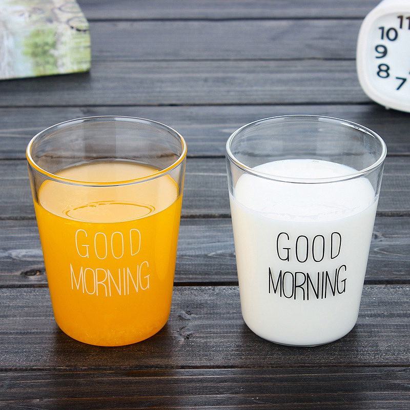 New fashion Japanese Milk Tea glass mug Cup Breakfast milk milktea coffe Cup Glass Cup Morn home office drink cup(China (Mainland))