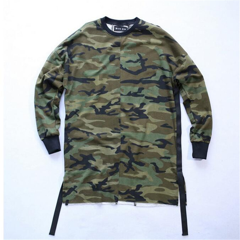 KANYE WEST Camouflage Streetwear Hip Hop Sweatshirt Casual Oversize Drooping Shoulders Hoodies Yeezy Suits Pullover Homme Army