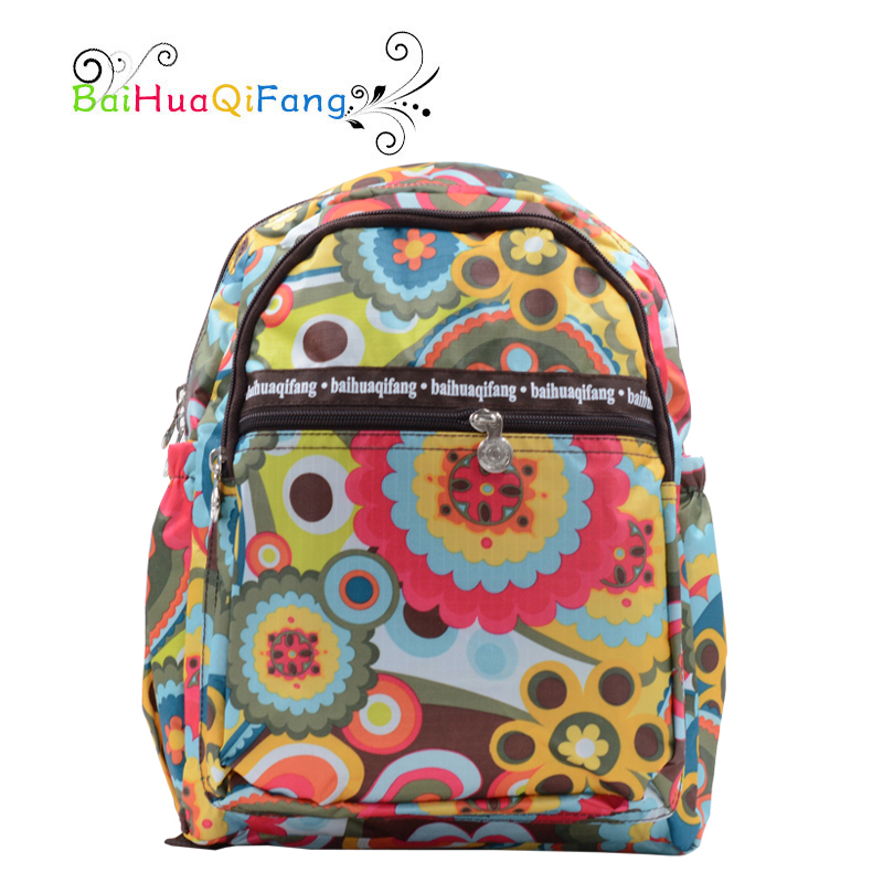 childrens designer bags 0s6d  Fashion small green flower printing backpack for girls designer water proof  PVC women's travel backpack mochila