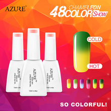 2015 Brand New Azure nail gel hot sales new season color changing with temperature nail polish free gift 36 colors available