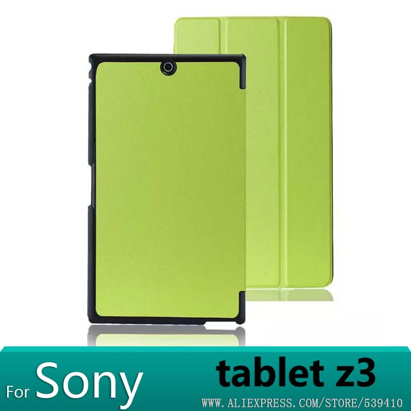 For sony tablet z3 case Luxury Smart Ultra thin PU leather Case cover For Sony Xperia Z3 Compact 8 cover case +screen protectors<br><br>Aliexpress