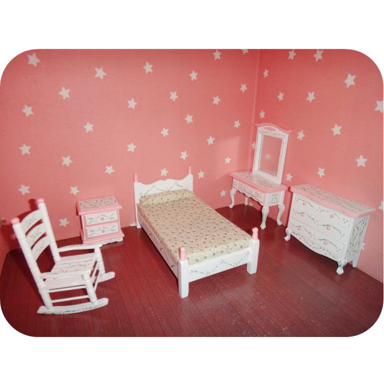 Niedlich 1 12 puppenhaus miniatur puppenhaus for Schaukelstuhl pink