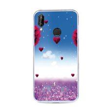 Caso suave para Huawei P Smart Plus P20 Pro P10 Nova 3 3i 3E Mate 10 9 Honor 10 9i 9 7X 8X V10 V9 cubierta de silicona casos pintura(China)
