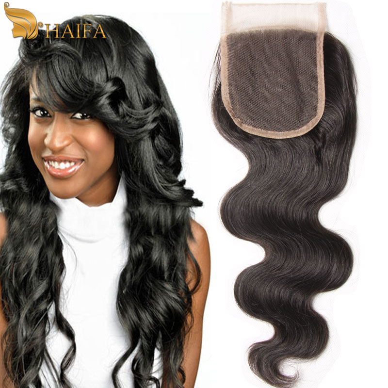 Peruvian Virgin Hair Body Wave Closure 4*4 Lace Closure Queen Hair Products With Closure Bundle Free Middle 3 Part Human Closure