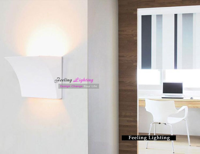 Free shipping Hot Selling Modern Creative Italy Double Shadow Wall Lamp Sconze Fixture 1 Light  White<br>