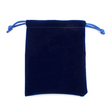 12PCS/Lot High Quality Dark Blue Velvet Gift Bags Logo Printed Flannelette Jewelry Bags and Packaging 8.0cm*10.0cm(China (Mainland))