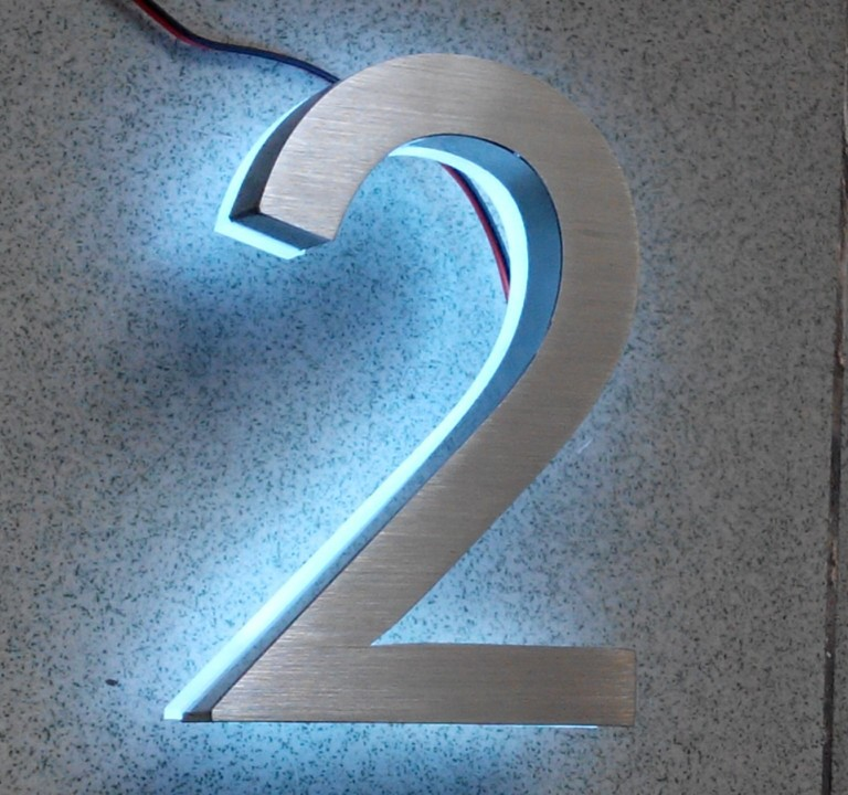 Led house number 2 apartment led numbers and company Led house numbers