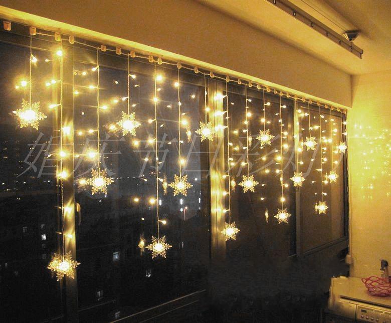 Lighting window decoration night light christmas for 6 star window christmas decoration lights