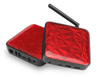 UGOOS UT3S Mini PC – Quad Core RK3288 CPU, 4GB RAM, 32GB Memory, 4xUSB, 2.4GHz/ 5GHz WiFi (Red)