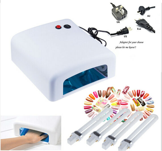 Top Sale 2014 New Arrival Nail Tools CCFL 36W UV GEL Cring+ 4*9w light Nail Art UV Lamp machine Kits gel polish kit with uv bulb(China (Mainland))