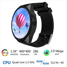 Buy 2017 Smartwatch 3G KW88 PK Finow X5 X61.39'' Amoled 400*400 Smart Watch 3G Calling 2.0MP Camera Pedometer Heart Rate pk d5+ s99 for $102.68 in AliExpress store