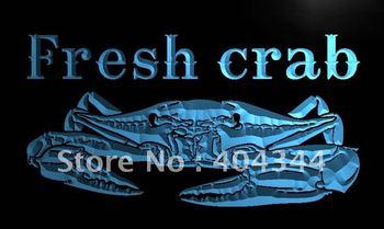 LN102- Fresh Crab Restaurant LED Neon Light Sign