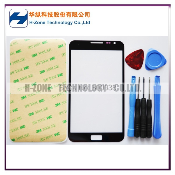 Free Ship New Front Glass lens Cover Touch Screen Glass Digitizer screen cover For Samsung Galaxy Note N7000 with Tools Adhesive(Hong Kong)