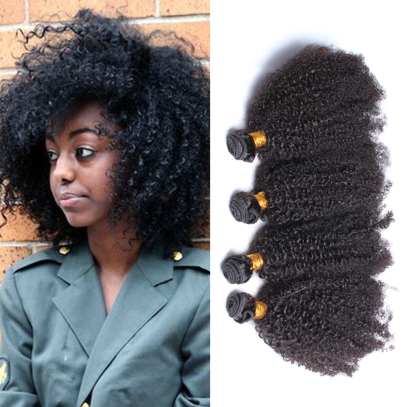 Unprocessed virgin cambodian hair extension afro kinky curly virgin hair 5pcs/lot free shipping 5A human hair weave