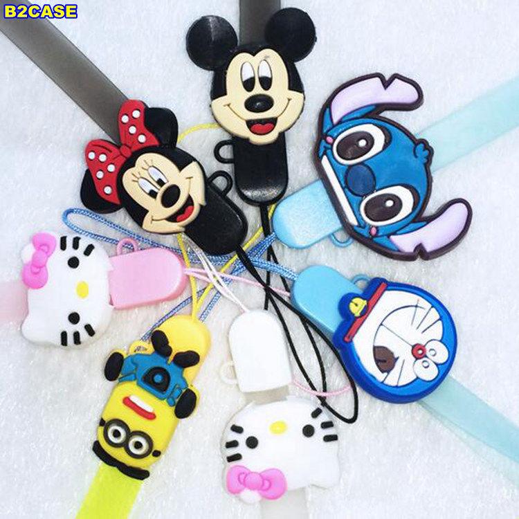 B2CASE cute cartoon Doraemon Hello Kitty Mickey Lanyard Cords Straps for huawei p9 plus lite p8 sony z3 z5 smartphone Camera ID(China (Mainland))