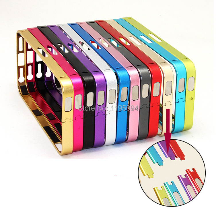 2015 New 0.7mm Ultra Thin Slim Aluminium Metal Bumper Frame Cover Case For iPhone 5 5S Free Shipping(China (Mainland))