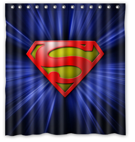 Online Get Cheap Superman Bathroom Decor