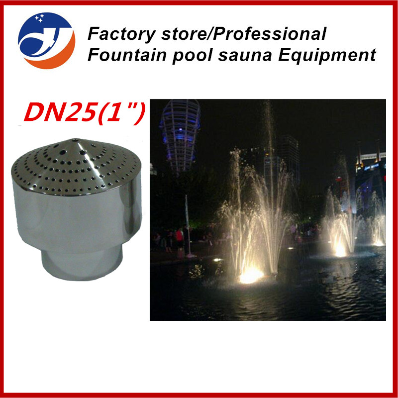 """Free shipping DN25 1"""" Stainless Steel Fireworks Decor Water Fountain Nozzle Spray Head Pond Sprinkler(China (Mainland))"""