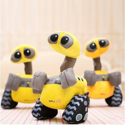 H9622 10Piece/Lot 28CM 2015 Cute Cartoon Robot Wall Plush Toys Soft Christmas Gift