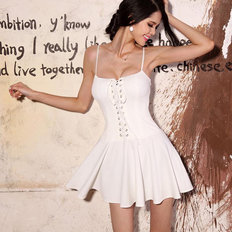 Короткое Белое Платье С Корсетом