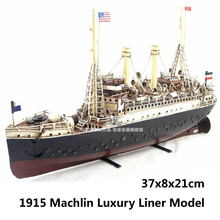 1915 Machlin Luxury Liner Model handmade antique vintage metal ship boat collection decoration gift(China (Mainland))