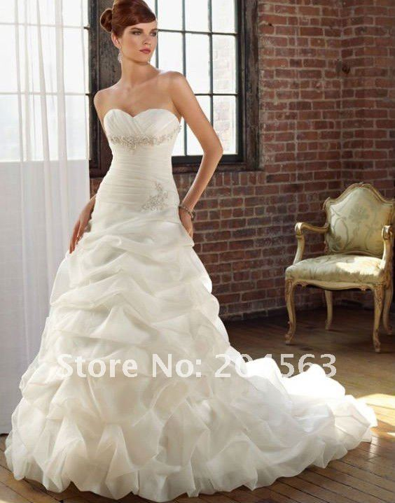 Free shipping best selling sweetheart appliques wedding for Sell your wedding dress for free