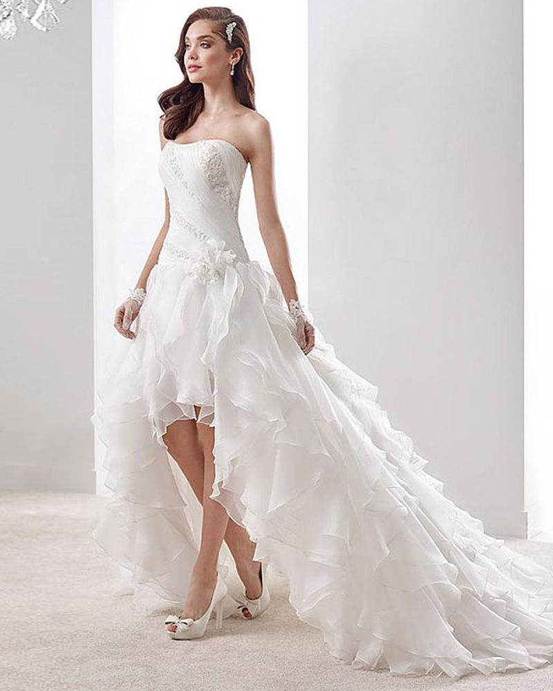 Popular plus size high low wedding dresses buy cheap plus for Wedding dress high low