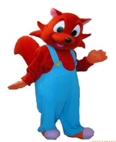 Оптовая БЕСПЛАТНАЯ ДОСТАВКА красной лисы плюшевые персонажа из мультфильма костюм талисмана косплей на заказ подгонянные продукты