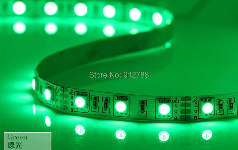 New Non-Waterproof 5050 RGB Led Strip Flexible Light 60Led/m 5M 300 LEDs SMD DC 12V Supply Freeshipping<br><br>Aliexpress