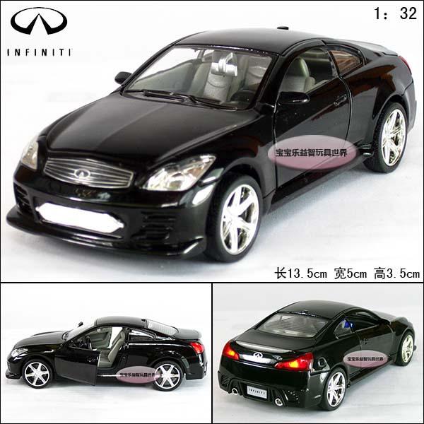 Free shipping Infiniti infiniti g37 black alloy car models plain(China (Mainland))