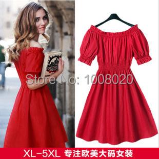Plus Size red Fashion Chiffon cotton Sexy Casual Dress Long Dresses women wear Autumn Bandage Dress Women Clothing 2014 design(China (Mainland))