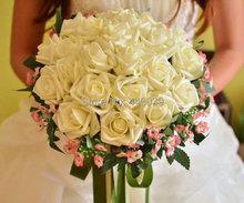 Buy FW155 Hot Sale 24 pieces rose flower 6 color Artificial Bride Hands Holding Rose Flower Wedding Bridal Bouquet buque de noiva for $15.80 in AliExpress store