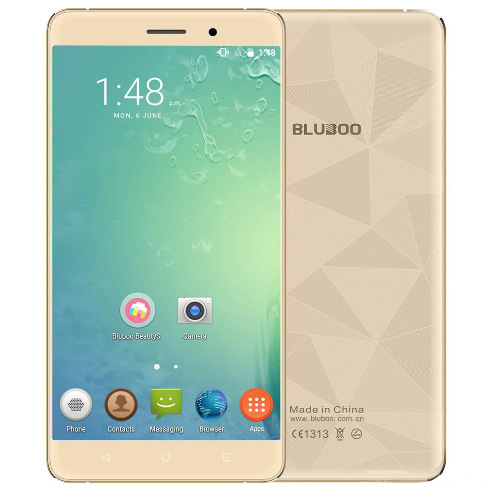 Original BLUBOO Maya MTK6580A Quad Core Cell Phone Android 6.0 HD 5.5 Inch Mobile Phone 2G RAM 16G ROM Unlocked 3G Smartphone(China (Mainland))