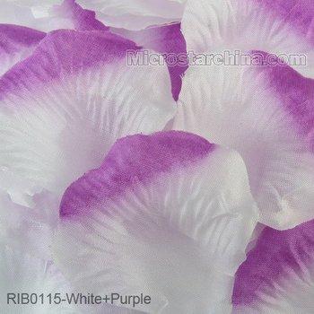 White+Purple 1000pcs Silk Rose Petals Table Flower Decoration Engagement Wedding Christmas Party Celebrations