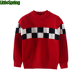 2016 Causal childrens clothing cotton children s sweaters kids clothing check design boys knitted sweaters boys
